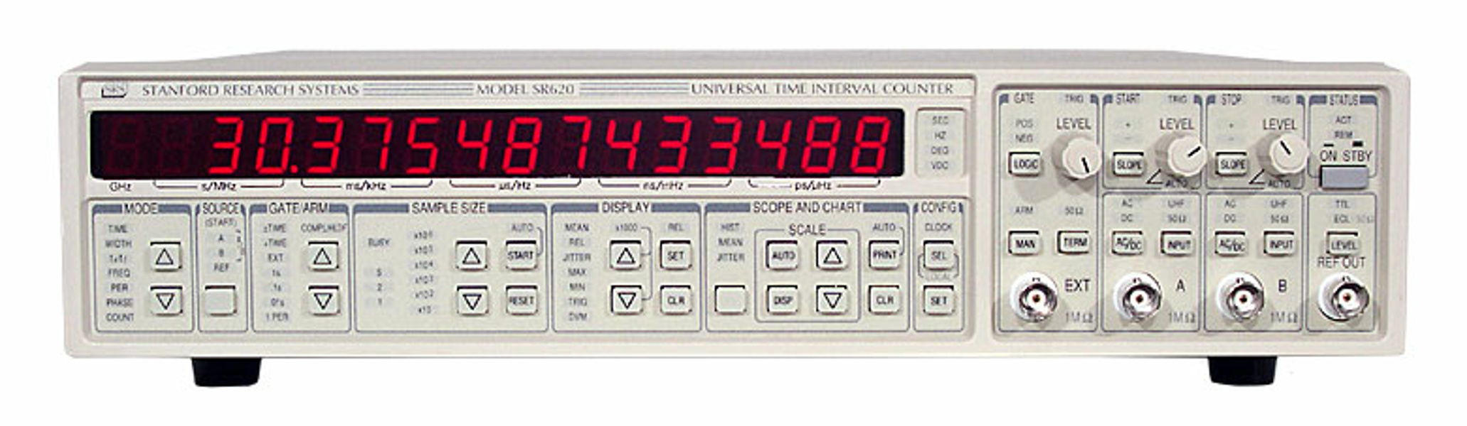 SRS SR620 — Time interval and frequency counter