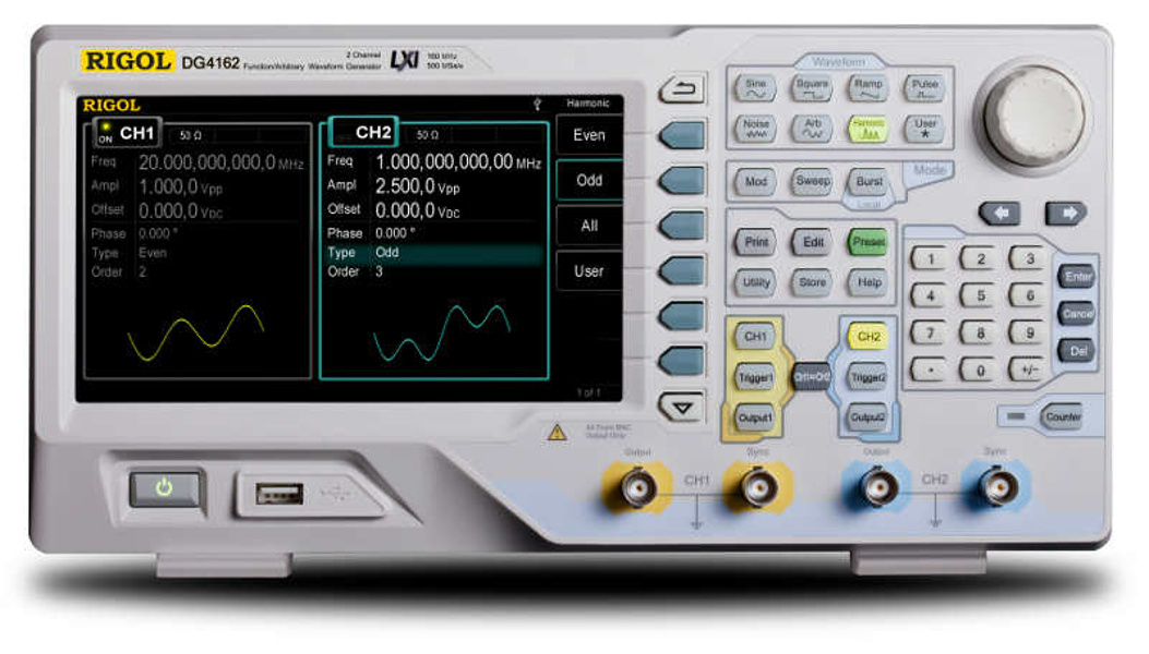 Rigol DG4102 dual-channel 100 MHz arbitrary function generator