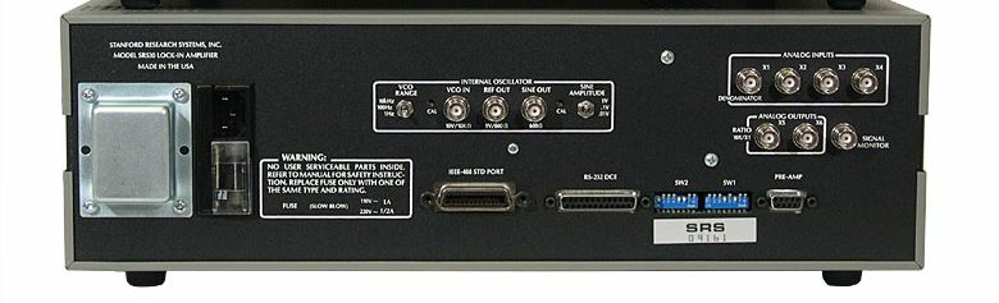 SRS SR530 — Analog lock-in amplifier Dual Phases