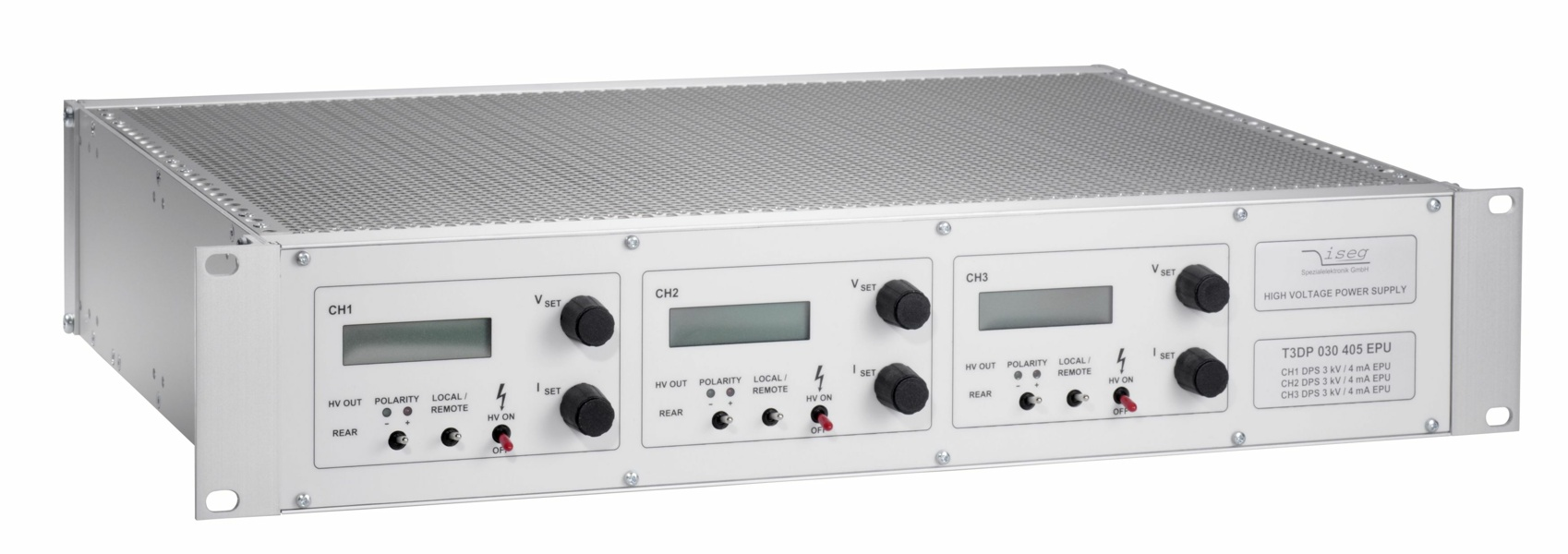 iseg THQ Desktop HV power supply with 1,2 or 3 channels.