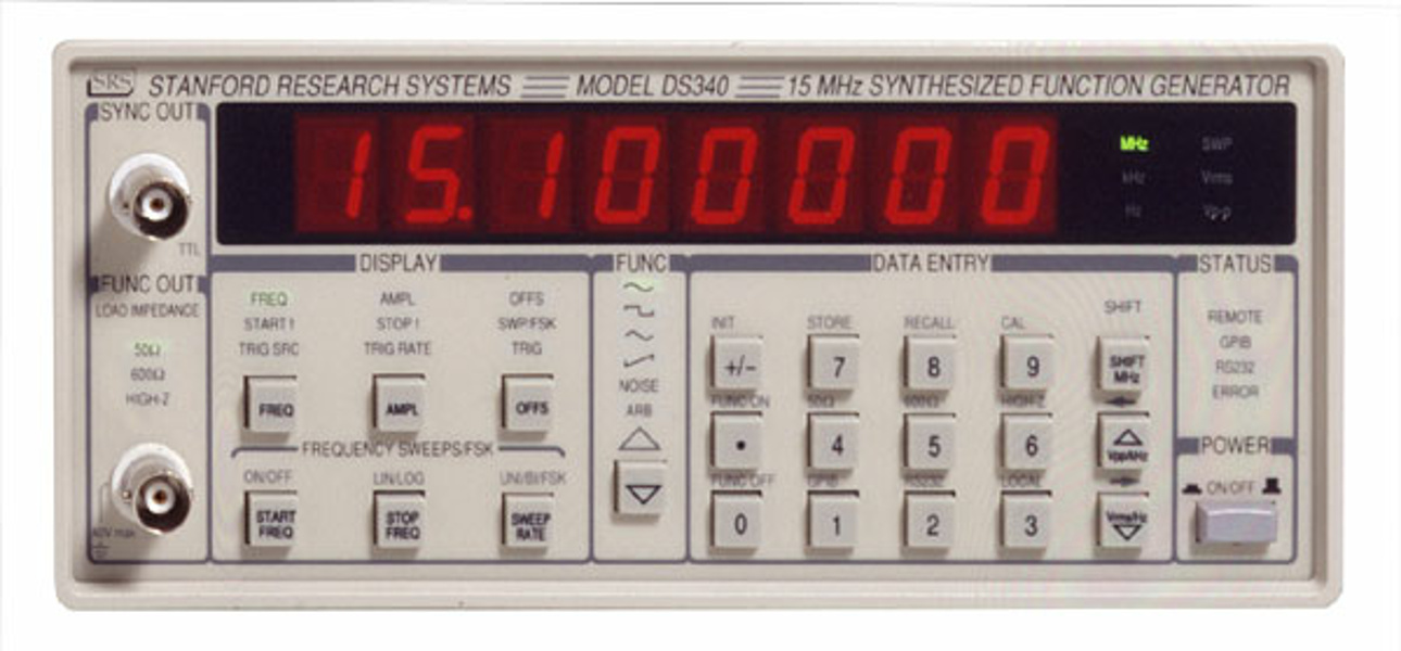 SRS DS340, Direct Digital Synthesized Function and Arbitrary Waveform Generator, 15 MHz