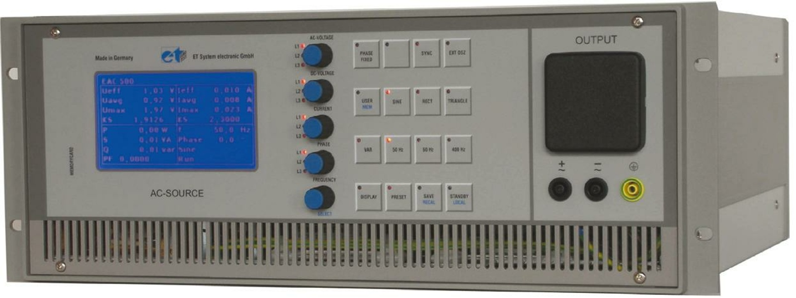 ETS EAC-S 250 - 10000 VA Single phase Electronic AC Power Sources