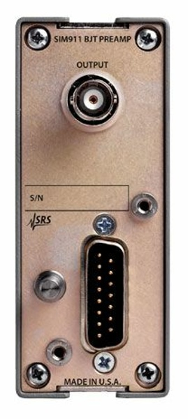 SRS SIM911 BJT Voltage Preamplifier 1.8 nV/√Hz input noise, input impedance 100 kΩ // 35 pF