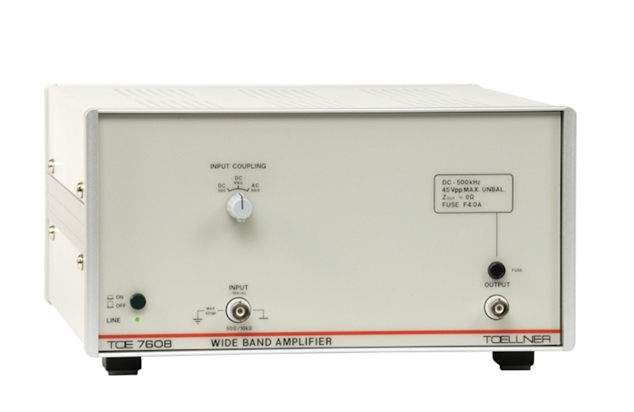 Toellner TOE 7708S Broadband amplifiers 15 to 20 kHz with integral feedback voltage protection 63 W output power