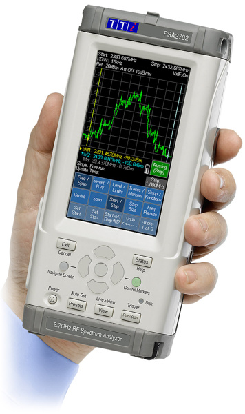 TTi PSA1302USC Handheld Spectrum analyzer 1MHz to 2700MHz - extended version