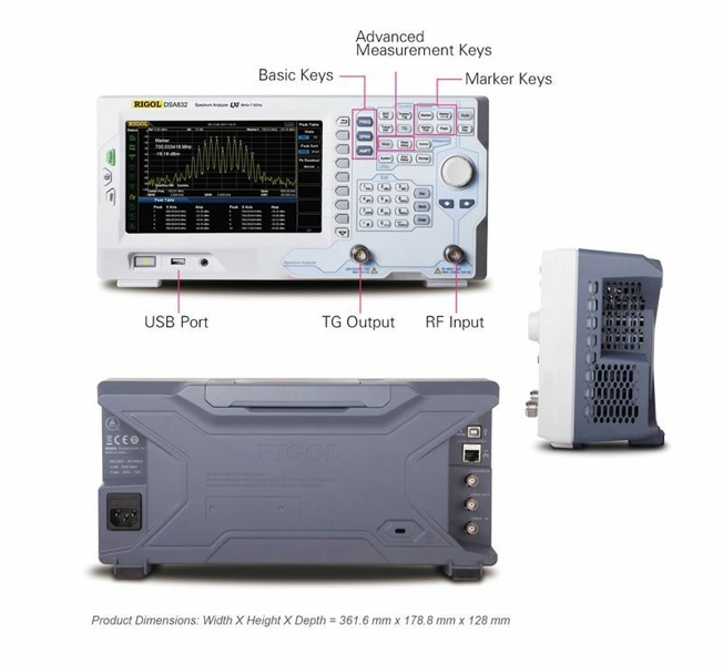 Rigol DSA875-TG Spectrum Analyzer 7.5 GHz with Tracking Generator