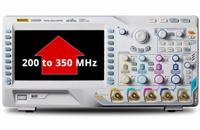 Rigol Bandwidth Upgrades thru Software License Key on Rigol MSO/DS4000 Series: 200MHz -> 350MHz