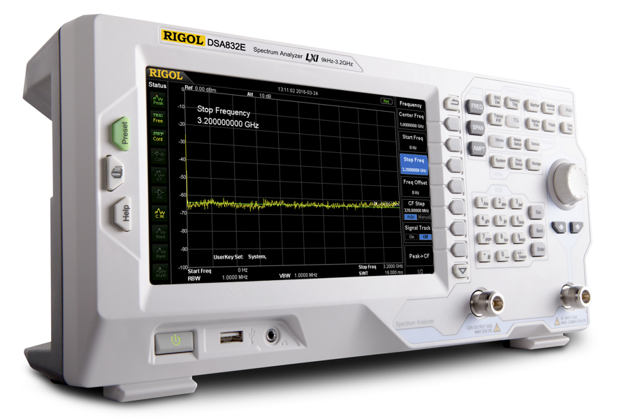 Rigol DSA832E-TG Spectrum Analyzer 3.2 GHz with Tracking generator