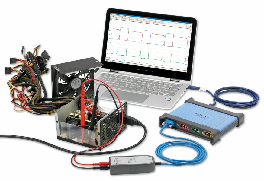 PicoScope 4444 CATIII 1000V High-resolution differential oscilloscope kit with 4 true differential inputs