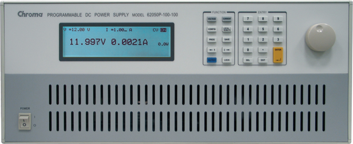 Chroma DC Power Supply Model 62000P series, 12 different models ranging from 600W to 5000W