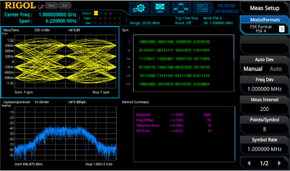 Rigol VSA Vector Signal Analyzer application build-in software option for RSA5000