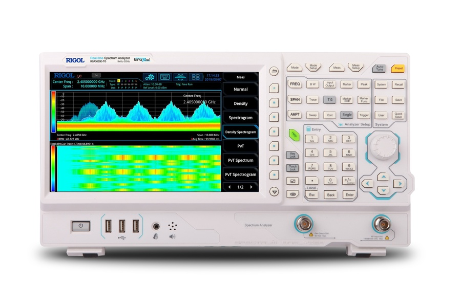 Rigol RSA3030E Real-time Spektrumanalysator, 9 kHz till 3.0 GHz with Tracking Generator