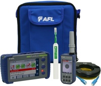 AFL FlexScan FS200-100-Pro OTDR with SmartAuto & LinkMap, delivered with One-click cleaner, 150m fiber ring and FOCIS Flex