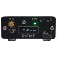 DS Instruments DAT64F 0-63dB, 0.25dB step, 100MHz - 6GHz digital attenuator - USB & Display